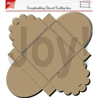 Joy!Crafts Polybesa - scrap box stencil -Scallop box