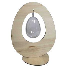 Joy!Crafts Houten staand ei met transparant ei