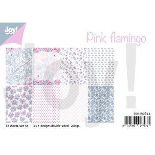 Joy!Crafts Papierset - Design Pink flamingo
