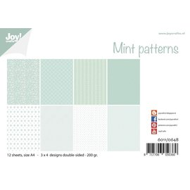 Joy!Crafts Papierset - Design - Mint patronen