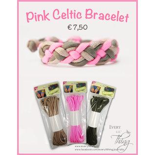 Joy!Crafts Pink Celtic Bracelet