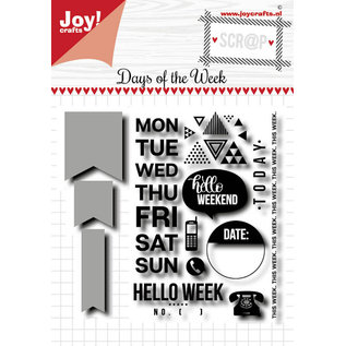 Joy!Crafts Scrap Stansmal & Stempels - Noor - Days of the week