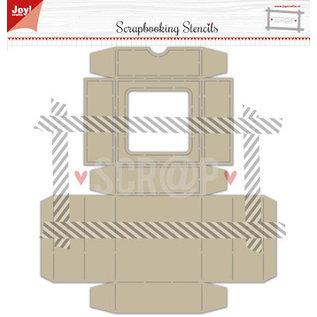 Joy!Crafts Polybesa stencil - Noor - Scrap box met klapdeksel