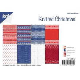 Joy!Crafts Papierset - Design - Gebreide kerst