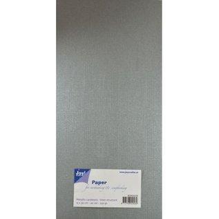 Joy!Crafts Papierset Metallic linnen structuur - zilver
