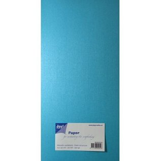 Joy!Crafts Papierset Metallic linnen structuur - blauw