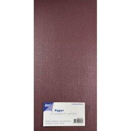 Joy!Crafts Papierset Metallic linnen structuur - donker rood