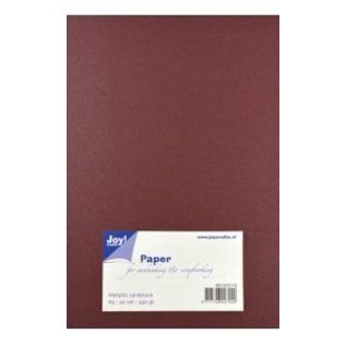 Joy!Crafts Papierset Metallic donker rood