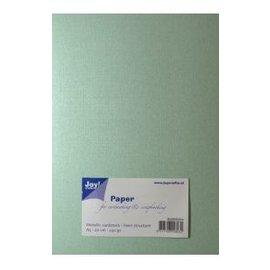 Joy!Crafts Papierset Metallic linnen structuur - licht groen