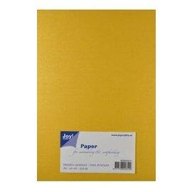 Joy!Crafts Papierset Metallic linnen structuur - geel