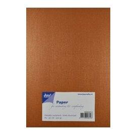 Joy!Crafts Papierset Metallic linnen structuur - koper