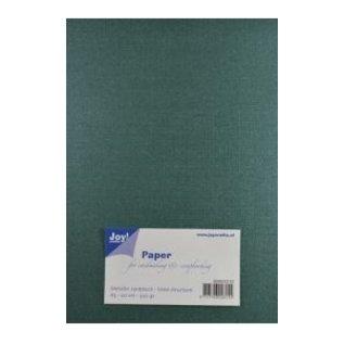 Joy!Crafts Papierset Metallic linnen structuur - donker groen
