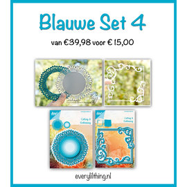 Joy!Crafts Blauwe Set 4