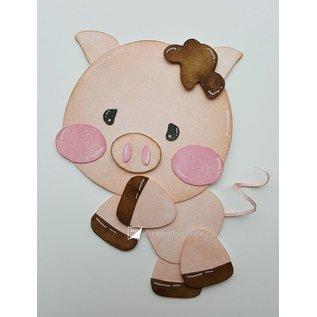 Joy!Crafts Polybesa stencil - Jocelijne - Varkentje Piggy