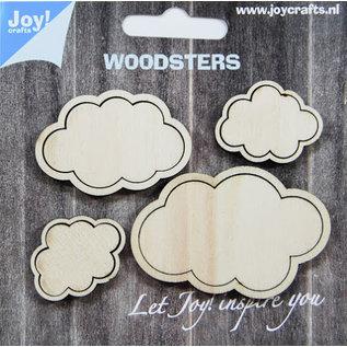 Joy!Crafts Woodsters - Wolken -  voor schudkaarten + deco