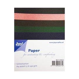 Joy!Crafts Glitterkarton A4 - set 3