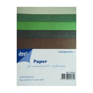 Joy!Crafts Glitterkarton A4 - set 4