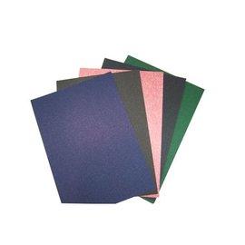 Joy!Crafts Glitter karton A4,rood,d.blauw,groen,bruin,zwart