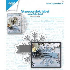 Joy!Crafts Stans-embosmal - Sneeuwvlok label