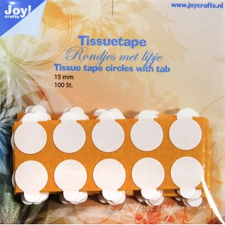 Joy!Crafts Tissuetape-rondjes met treklipje - ¯15 mm