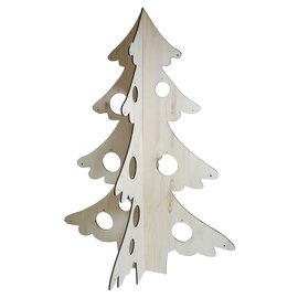 Joy!Crafts Houten Deco-Kerstboom 3D