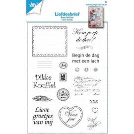 Joy!Crafts Clearstamp - Loveletters