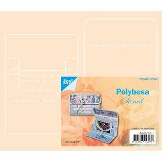 Joy!Crafts Polybesa stencil - Envelop voor kadokaart