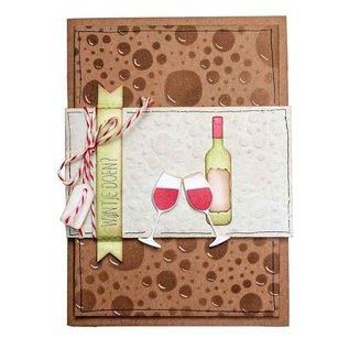 Joy!Crafts Stans-embosmal - Wijnfles & glazen