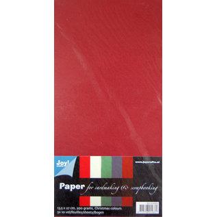 Joy!Crafts Karton kerstkleuren 200gr 5 kleuren x 10 vel