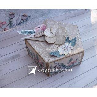 Joy!Crafts Polybesa stencil vijfkant doos met bloemsluiting
