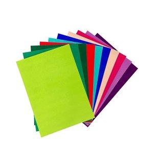 Joy!Crafts Fluweel Papier 10 vellen A4 Intensieve kleuren