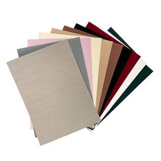 Joy!Crafts Fluweel Papier -  10 vellen A4  Natuur kleuren