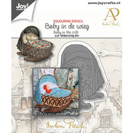 Joy!Crafts Stans-debossing mal -  Anton Pieck - Baby in de wieg
