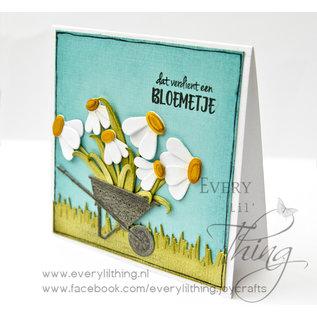Joy!Crafts Snij-debos-embosstencil- Voorjaar kruiwagen