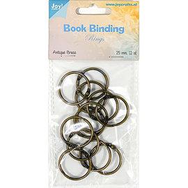 Joy!Crafts Boekbinders-ringen, 25mm, 12st