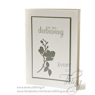 Joy!Crafts Snij-debos-embosstencil - lijst/bloem