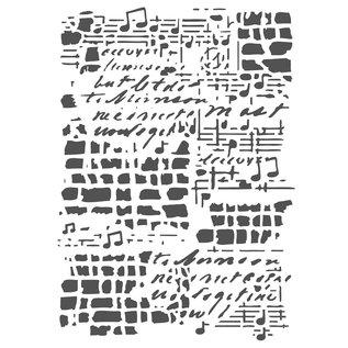 Joy!Crafts Maskstencil - Muziek achtergrond