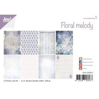 Joy!Crafts Papierset - Design Floral Melody