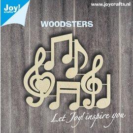 Joy!Crafts Woodsters - Muzieknoten
