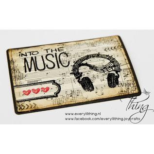 Joy!Crafts Clearstempel - Muziek in de lucht