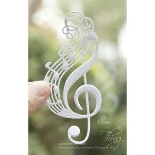 Joy!Crafts Snij-embosstencil- Noor- LH - Muzieksleutel