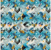 O'Neill Kaftpapier l.blauw