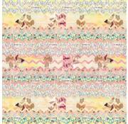 O'Neill Kaftpapier roze/geel