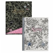 Replay A5 schriften - camo green/grey