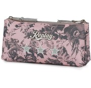 Replay Girls etui - dubbel roze camo