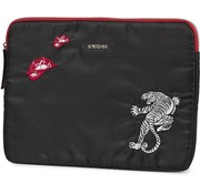 Supertrash Laptop sleeve zwart/rood