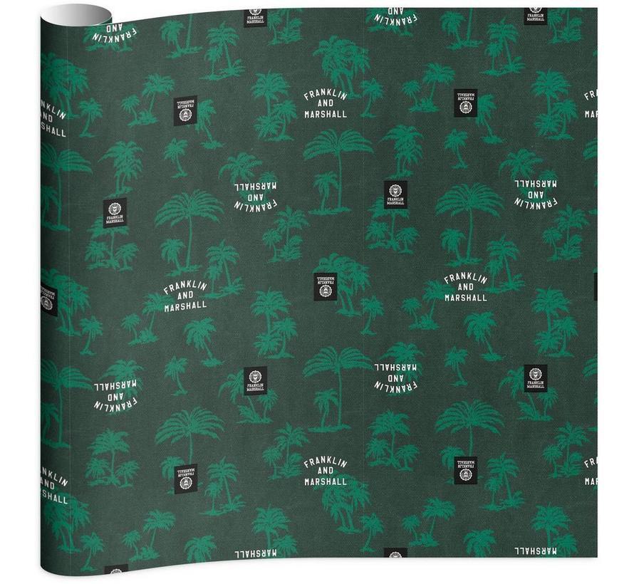 Boy's kaftpapier - groen