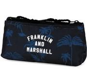 Franklin & Marshall Schooletui dubbel blauw