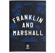 Franklin & Marshall A4 ruitjes schrift blue