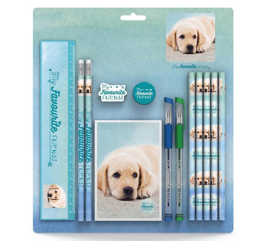 Setje schrijfwaren hond
